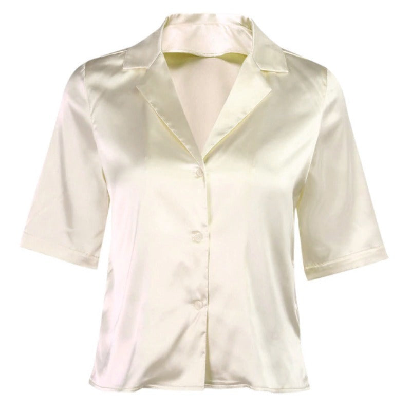 Mila Silk Vintage Shirt - Cream