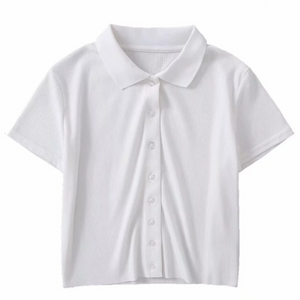 Clair Button Up Shirt In White