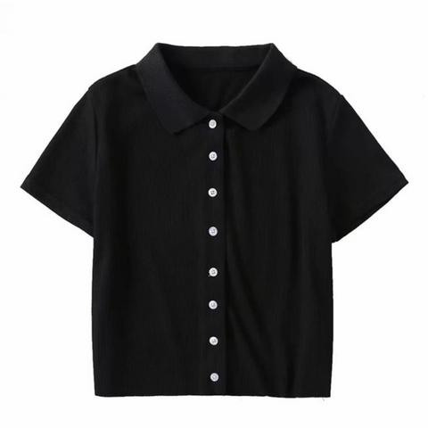 Clair Button Up Shirt In Black