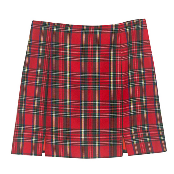 Wolfie Tartan Plaid Mini Skirt