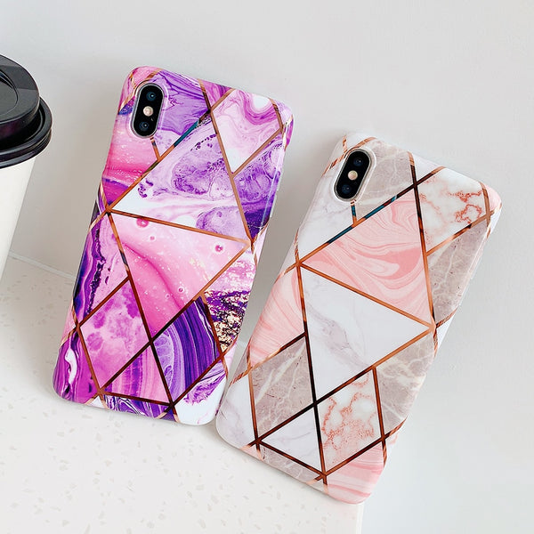 Geometric Marbles Case - Diamond