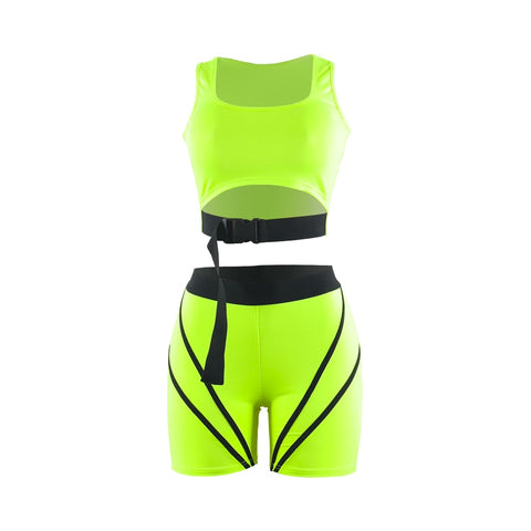 Neon Green Clip Co-ord