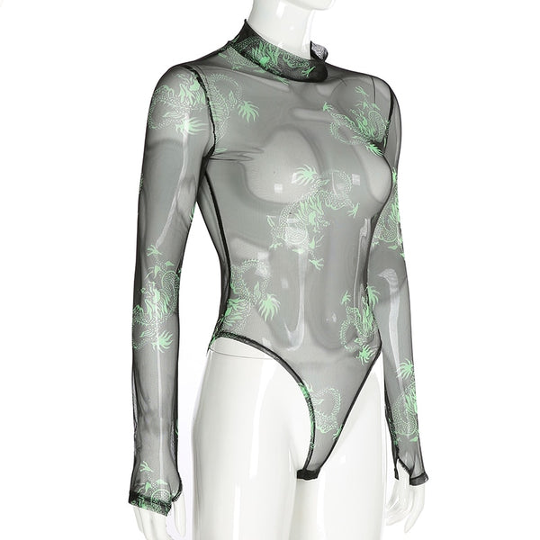 Vixen Dragon Mesh Bodysuit