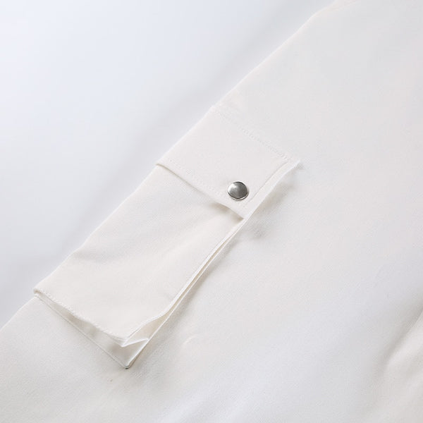 White Side Pocket Cargo Trousers