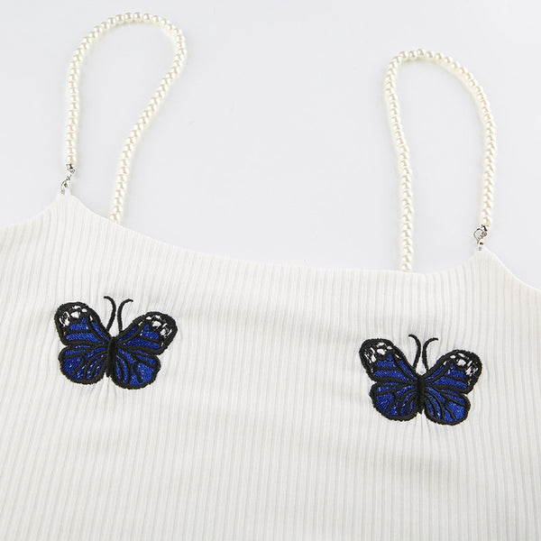 Butterfly Pearl Crop Top