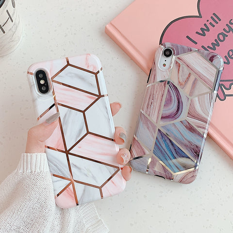 Geometric Marbles Case - Hexa & Timber