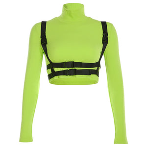 Neon Green Waist Harness T Shirt