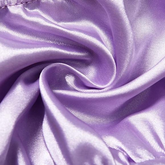 Blanche Lilac Satin Top