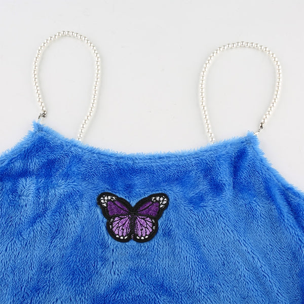 Viola Butterfly Pearl Plush Top
