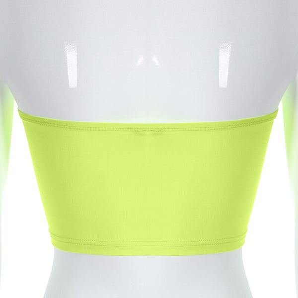 Neon Yellow Tube Top