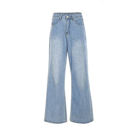 Heather Loose Flare Denim Jeans