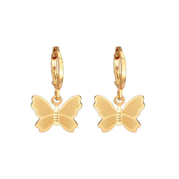 Butterfly Huggies - Gold Plated