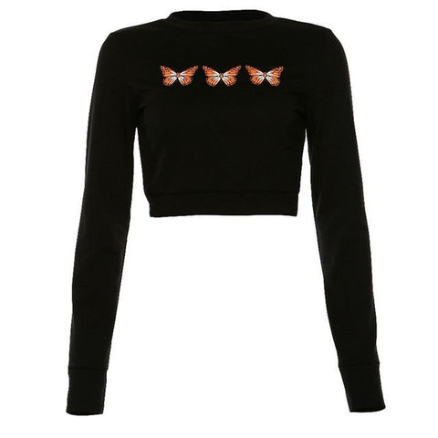 Butterfly Effect Cropped Pullover