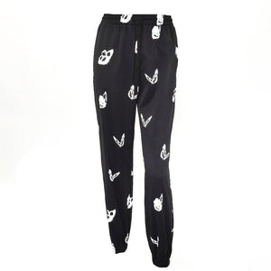 Monochrome Butterfly Effect Joggers