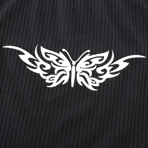 Heather Tattooed Butterfly Tank Top