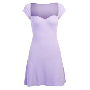 Fiona Lilac Sweetheart Mini Dress