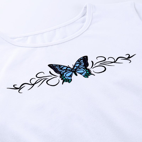 Paxie Butterfly Effect Cropped Tee