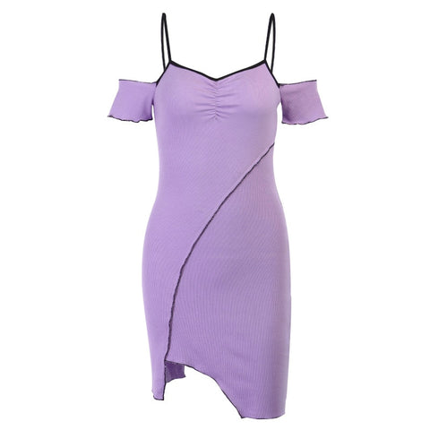 Bianca Lilac Cinched Dress