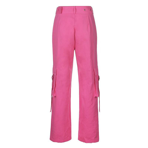 Pink Side Pocket Wide Pants