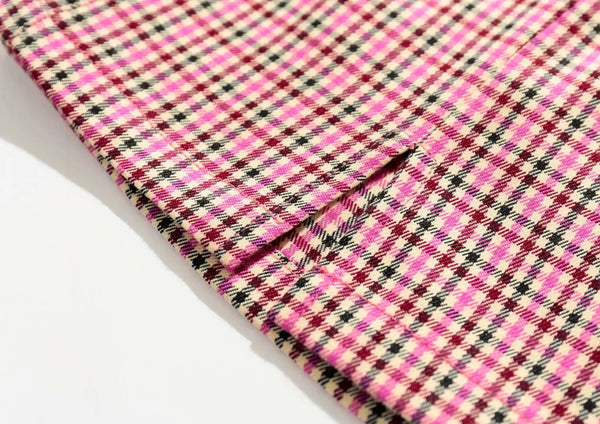 Wolfie Pink Plaid Mini Skirt