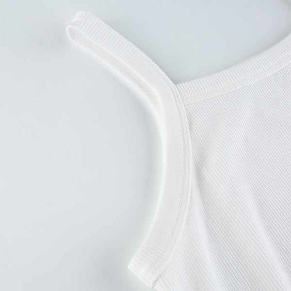 Gen White Knit Tank Top