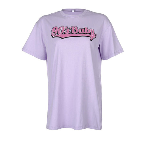 90's Baby T Shirt - Purple