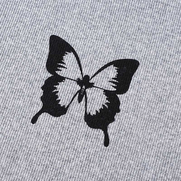 Butterfly Baseball Cropped T Shirt