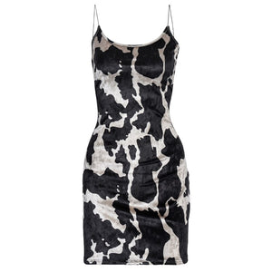 Mia Cow Print Bodycon Dress