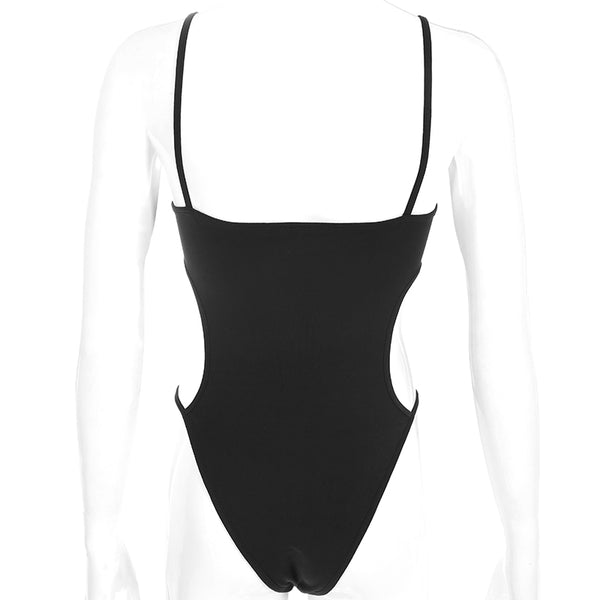 Kylie Black Cut Out Bodysuit