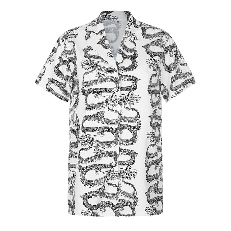 Gaia Dragon Print Shirt