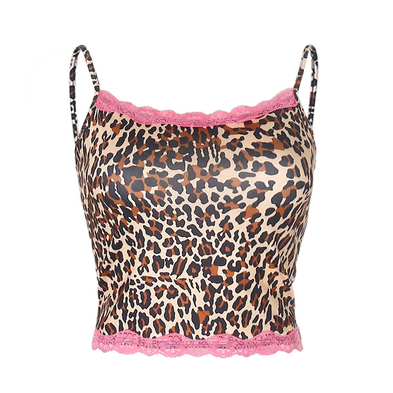Willow Leopard Print Lace Tank Top