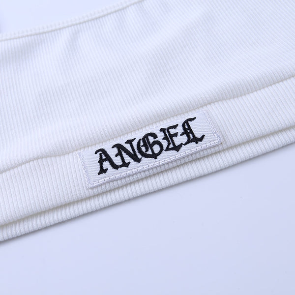 Angel Tag White Co-ord
