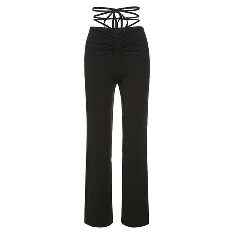 Gen Lace Up Flare Trousers