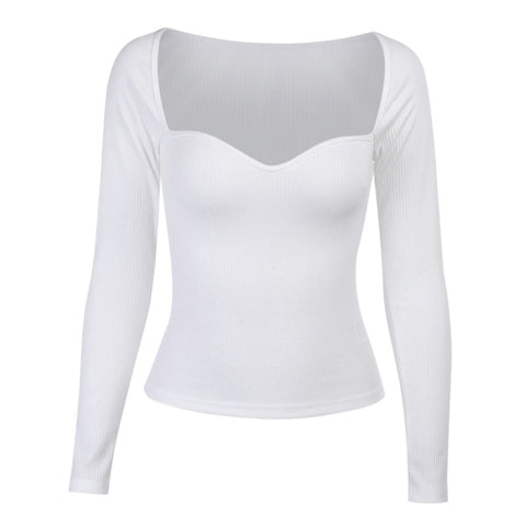 Serena White Sweetheart Top