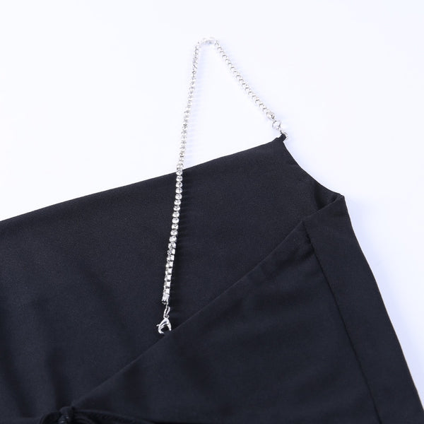 Blanche Diamante Backless Top