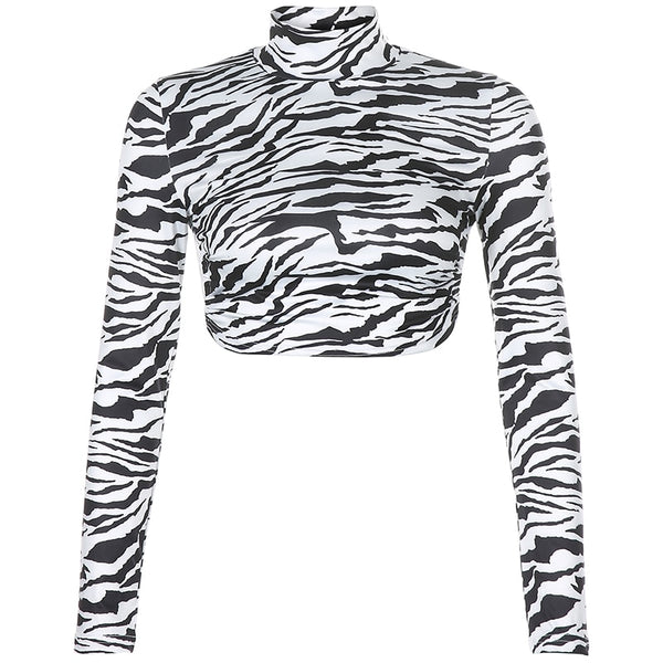 Darcie Zebra Backless Top