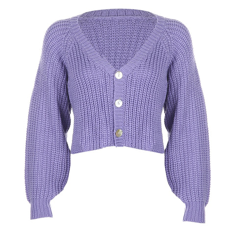 Macy Purple Cardigan