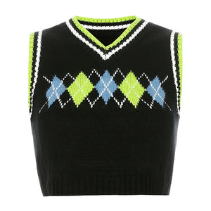 Cora Argyle Sweater Vest
