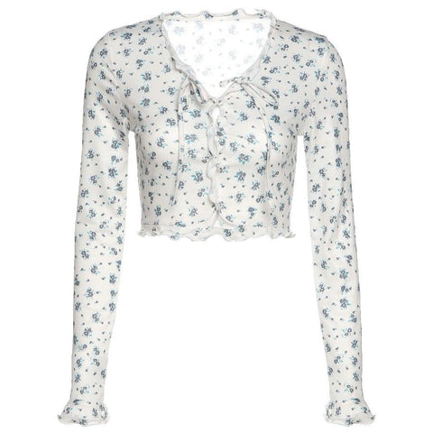 Fiona Tie Up Floral Top