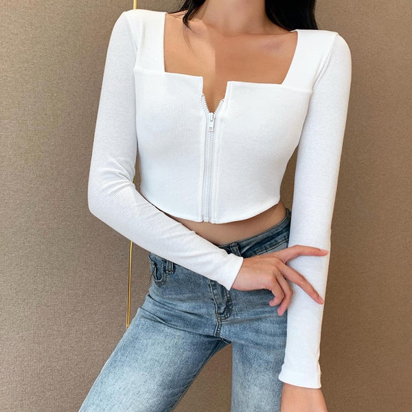 Stella Zipper Top