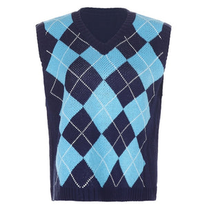 Macy Argyle Sweater Vest