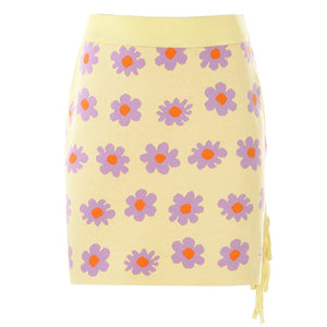 Rosella Floral Knit Mini Skirt