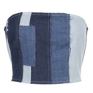 Lexi Patchwork Denim Top
