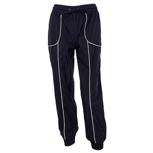 Fall Black Striped Detailed Elasticated Shell Cuffed Joggers
