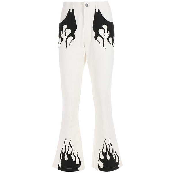 Mono Flames Flare Trousers