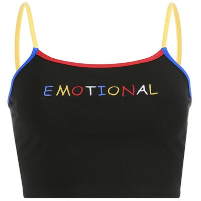 Emotional Slogan Tank Top