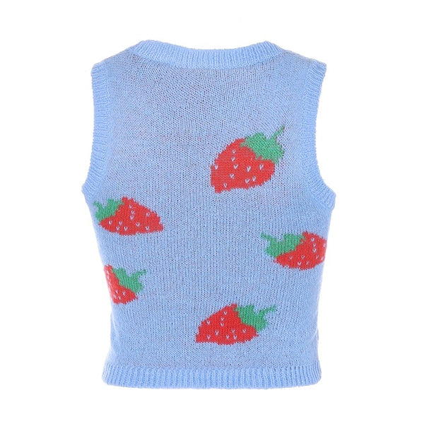 Willow Strawberry Sweater Vest