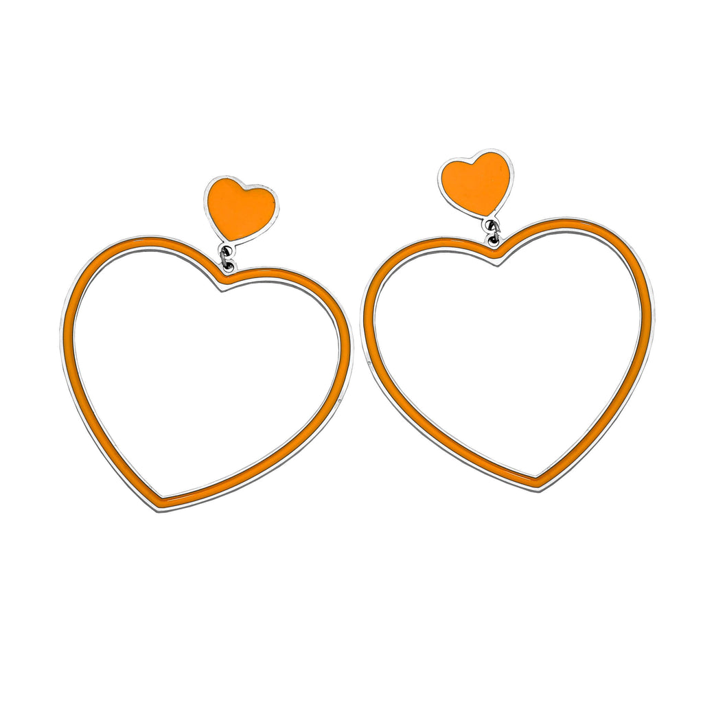 Orecchini Gipsy Color - Cuore Orange - Beloved Gioielli