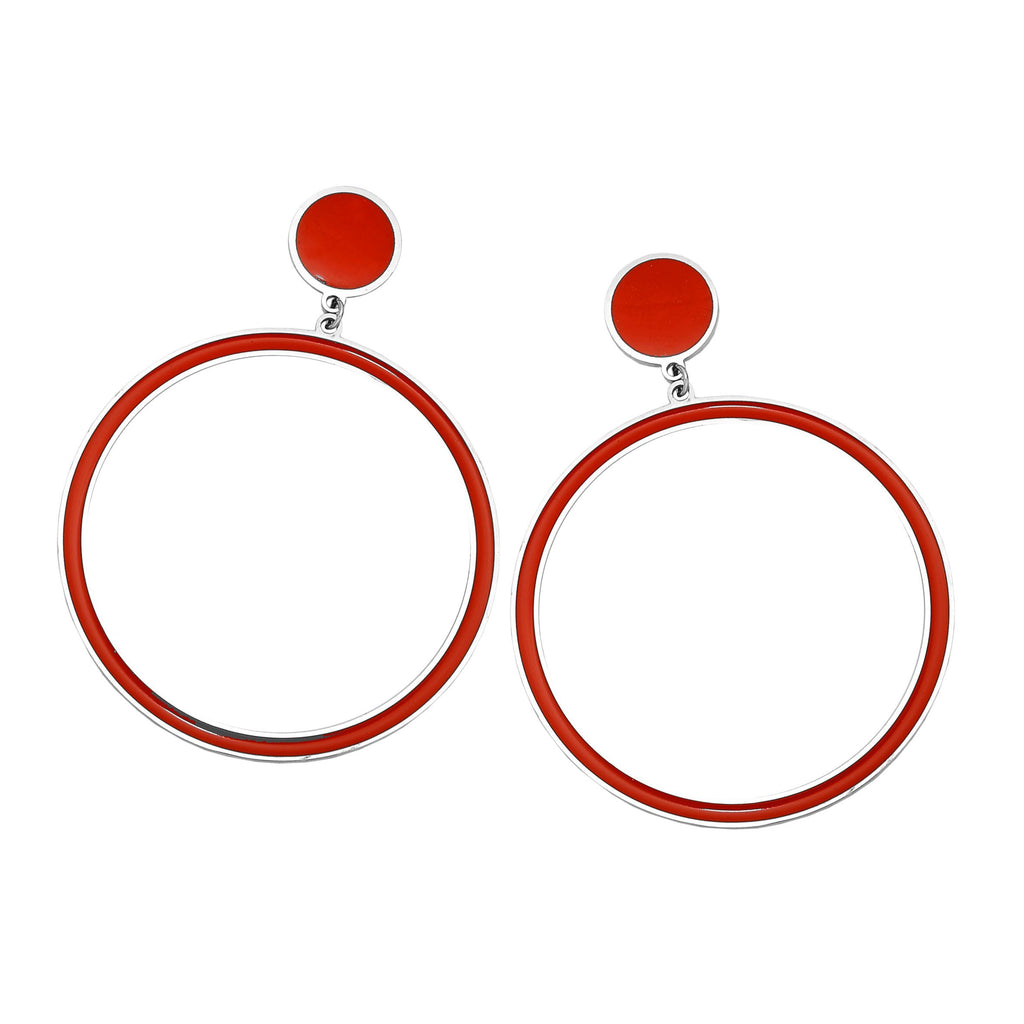 Orecchini Gipsy Color - Round Red