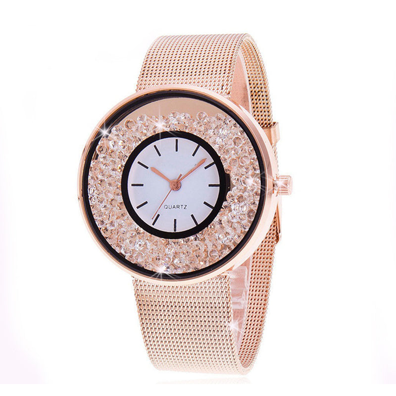 Orologio da donna con cristalli Crystal Deluxe - Color ORO ROSA - Beloved Gioielli